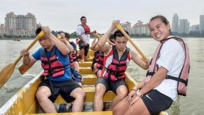 Deaf Team in dragon boat