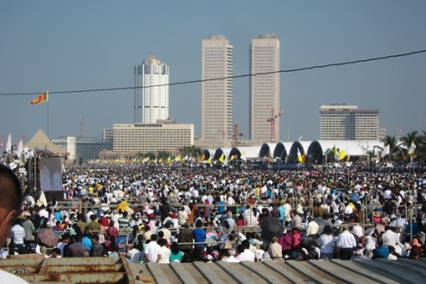 Crowds at Galle Face Green during Pope Francis's visit to Colombo, Sri Lanka. Surekha Ahgir Yadav