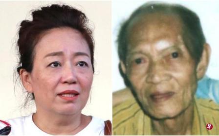 苏女士(左)一家和韦老先生是榜鹅甘榜的老邻居,苏家四代人都把他当亲人般看待。(摄影/庄耿闻) 右图:死者是韦素坚,享年86岁。 (受访者)